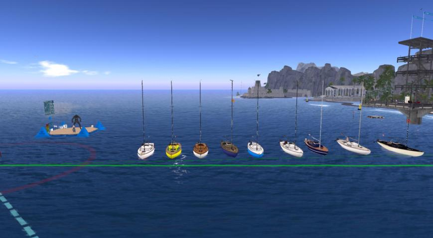 From the left to the right: (in Bandit IFs): boats: Jackson, Max & Wyndi, Sirius, Moonglownight, Ruggeromare, Dunia & Emileigh, Sea, Kim, Julie Dock: Satuur, Eline Pier, Viv, Tick Committee boat: Daenerys, Tamarushka